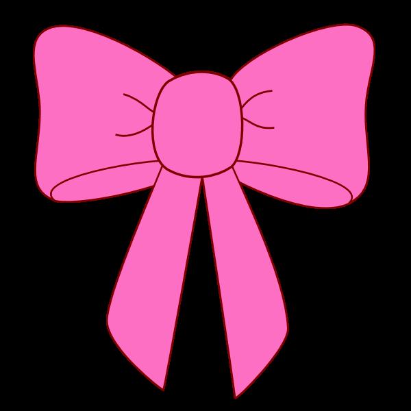 600x600 Pink Bow Ribbon Clipart