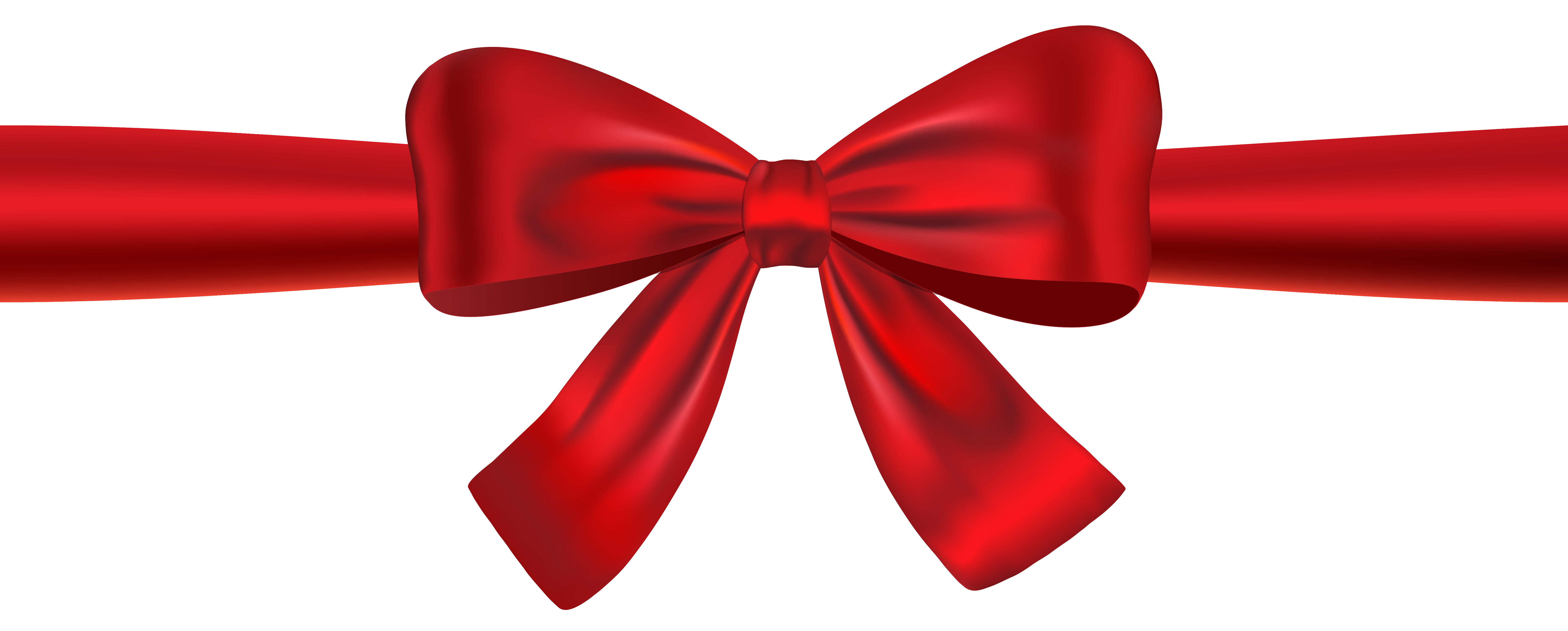 6110x2461 Ribbon Clipart Red Bow