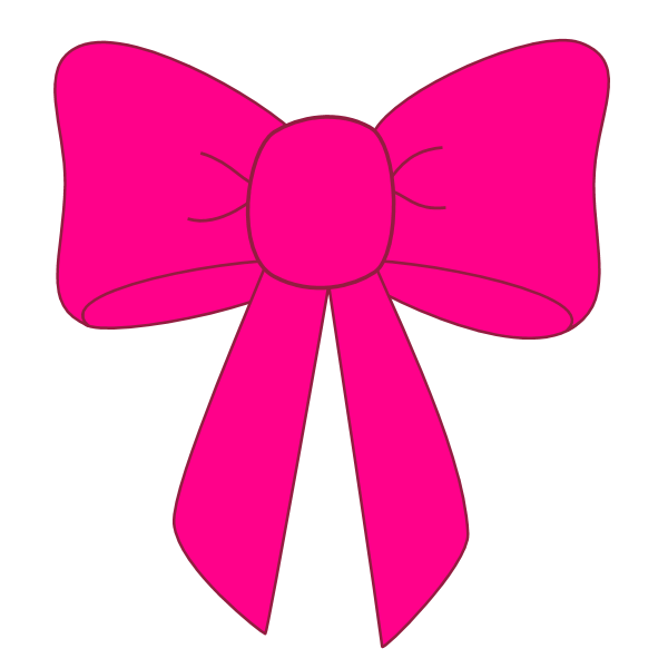 600x600 Pink Bow Ribbon Clipart