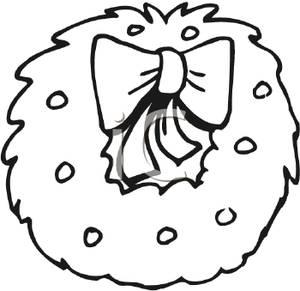 300x291 Christmas Bow Clipart Black White. Black And White Christmas