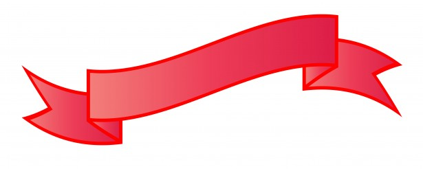 615x246 Red Ribbon Clipart Black And White