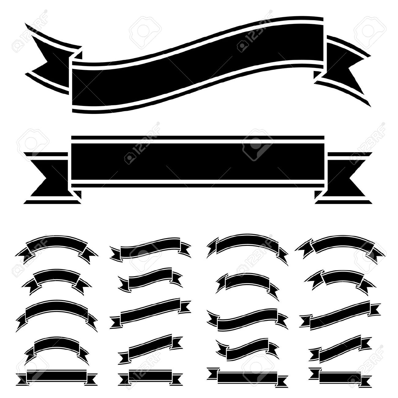 Ribbon Clipart Black And White | Free download on ClipArtMag