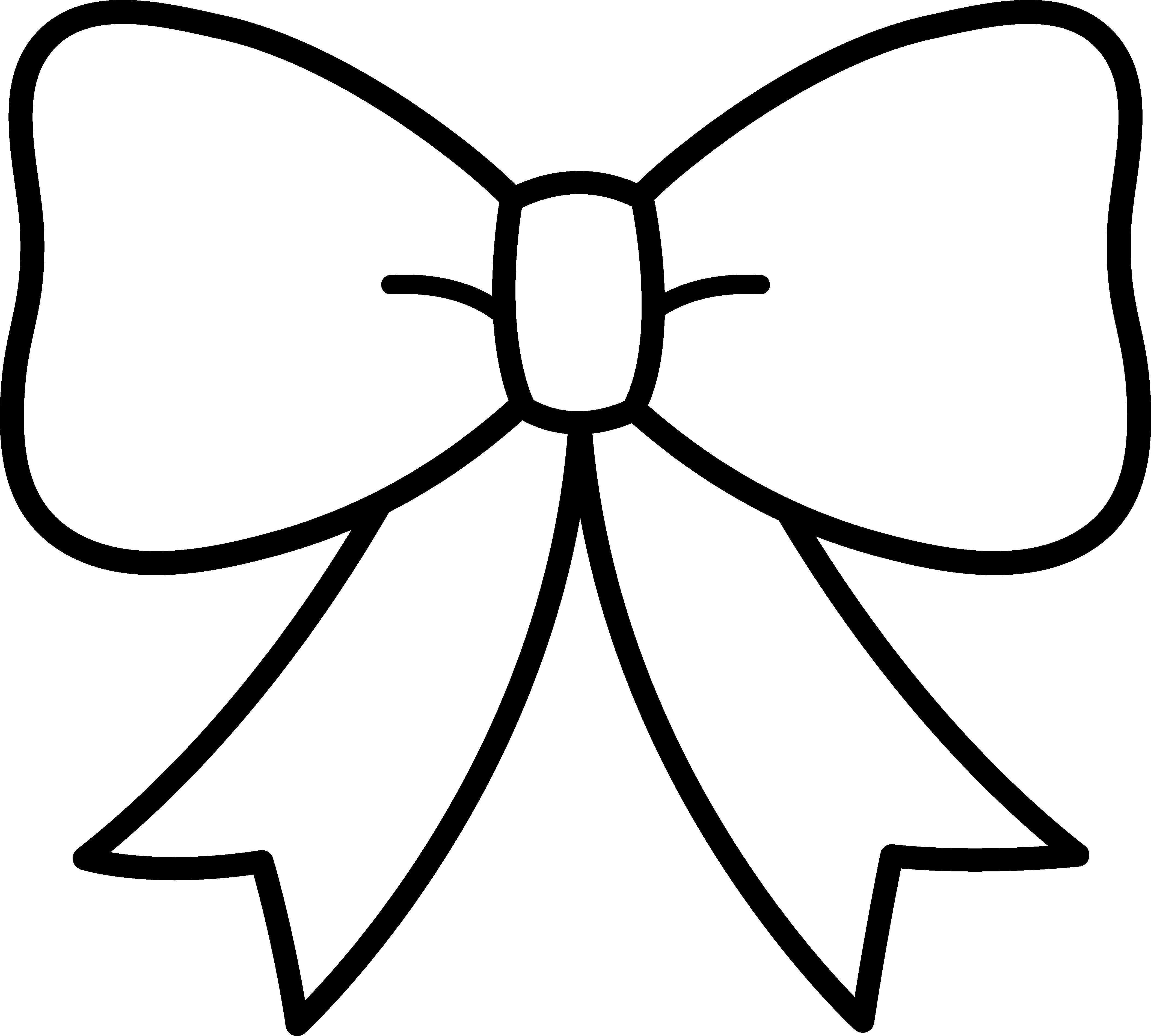 4216x3795 Ribbon Clipart Black And White