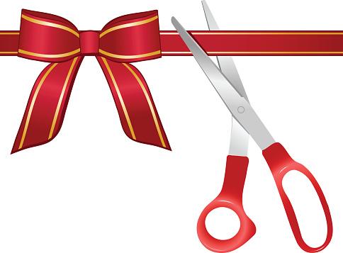 484x357 Ribbon Cutting Clip Art