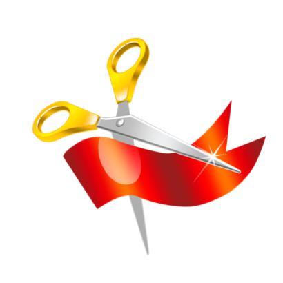 410x410 Ribbon Cutting Clip Art