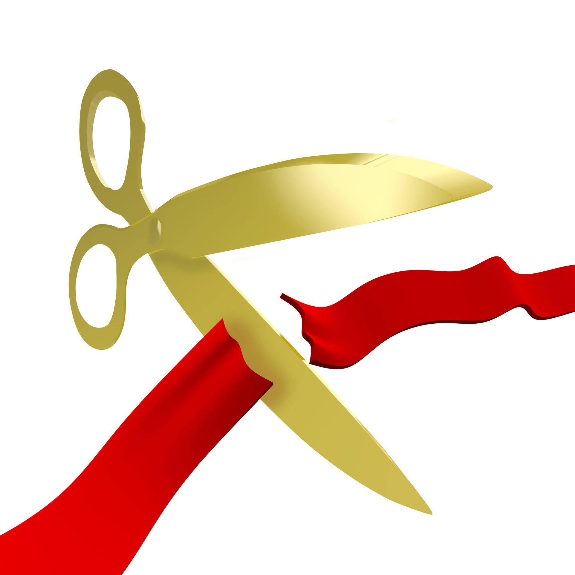 1924x1924 Ribbon Cutting Clip Art