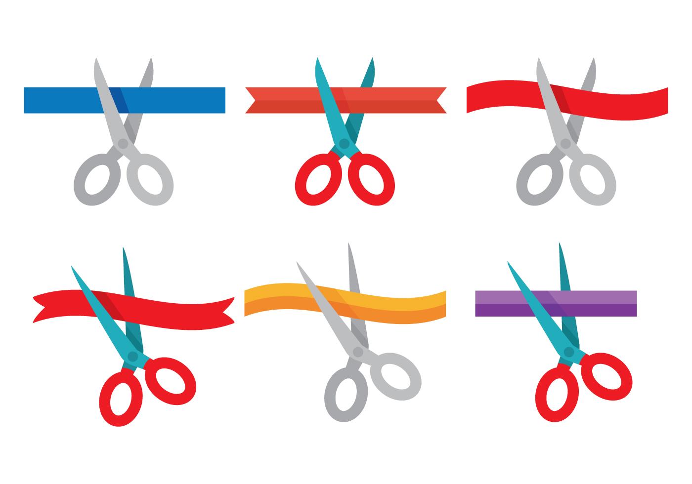 1400x980 Ribbon Cutting Free Vector Art