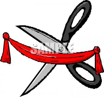 350x328 Scissors Cutting A Ribbon