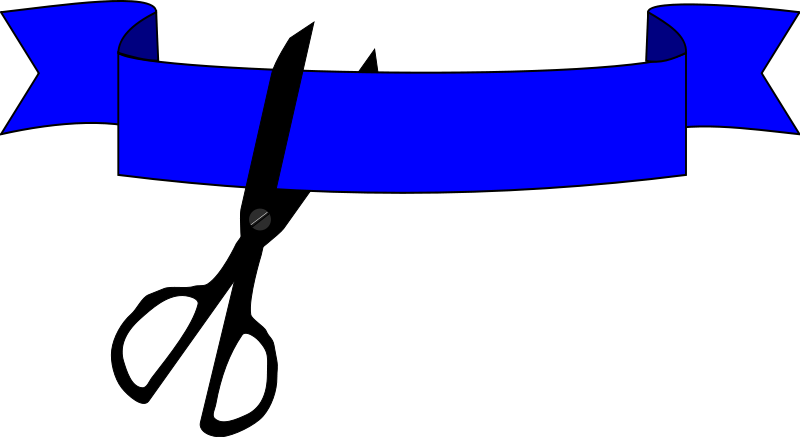800x437 Free Clipart Ribbon Cutting Algotruneman