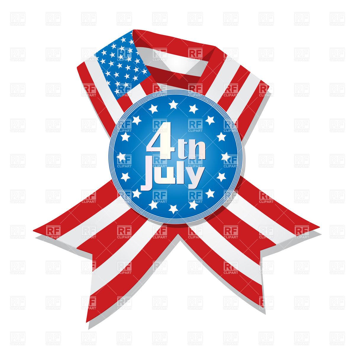 1200x1200 Badge And Ribbon With Usa Flag Royalty Free Vector Clip Art Image