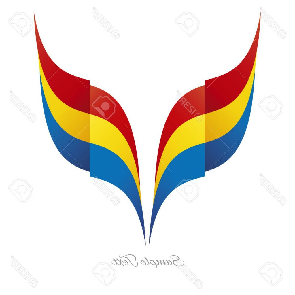1024x1024 Best 15 Abstract Romanian Eagle Flag Ribbon Logo White Background