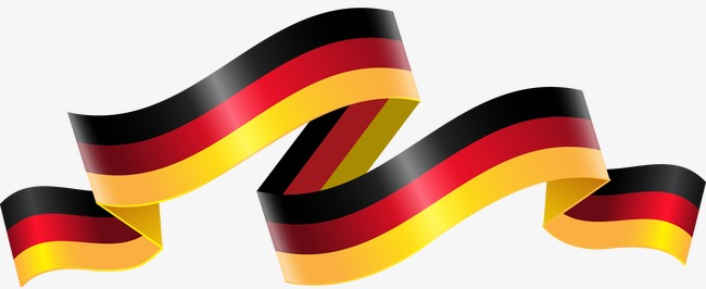 650x266 German Flag Streamers, Germany, Flag, Ribbon Png And Vector