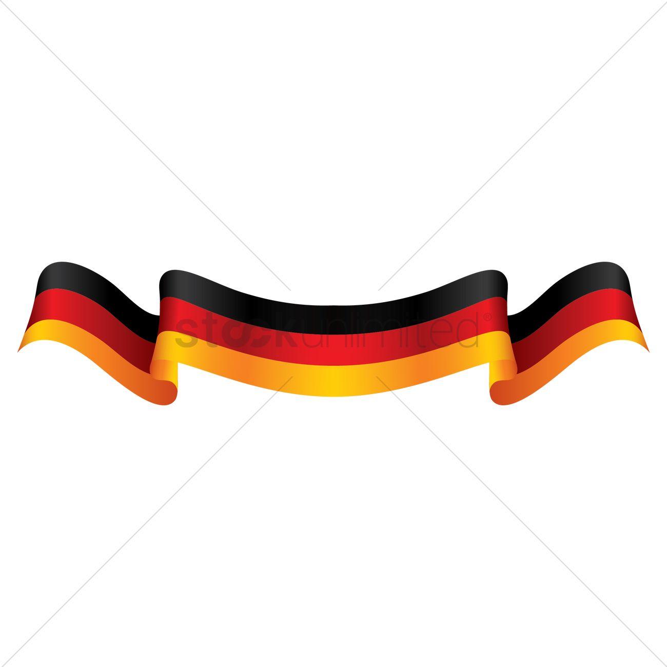 1300x1300 Germany Flag Ribbon Vector Image