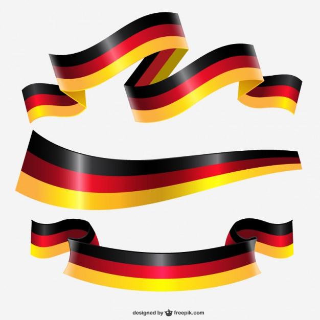 626x626 Germany Ribbon Flag Vector Free Download