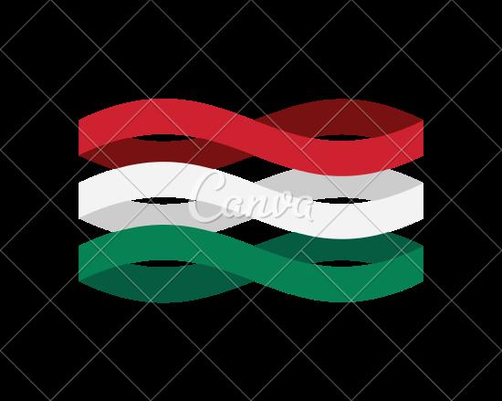 550x439 Hungary Flag Ribbon Isolated