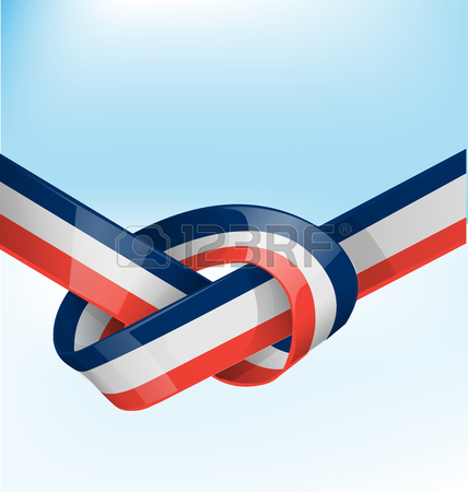 428x450 Philippines Ribbon Flag On Blue Sky Background Royalty Free