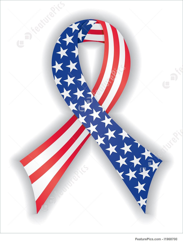 1021x1360 Smooth American Flag Ribbon Illustration