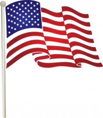 336x385 American Flag Ribbon Clipart Transparent Background