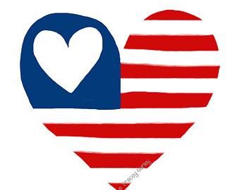 340x270 American Flag Ribbon Clipart