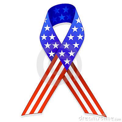 400x400 American Flag Ribbon Clipart