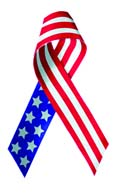 116x196 American Flag Ribbon Clipart