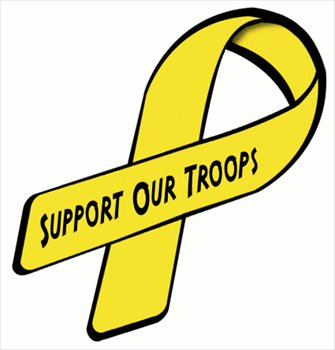 335x350 Free Ribbon Support Our Troops Clipart