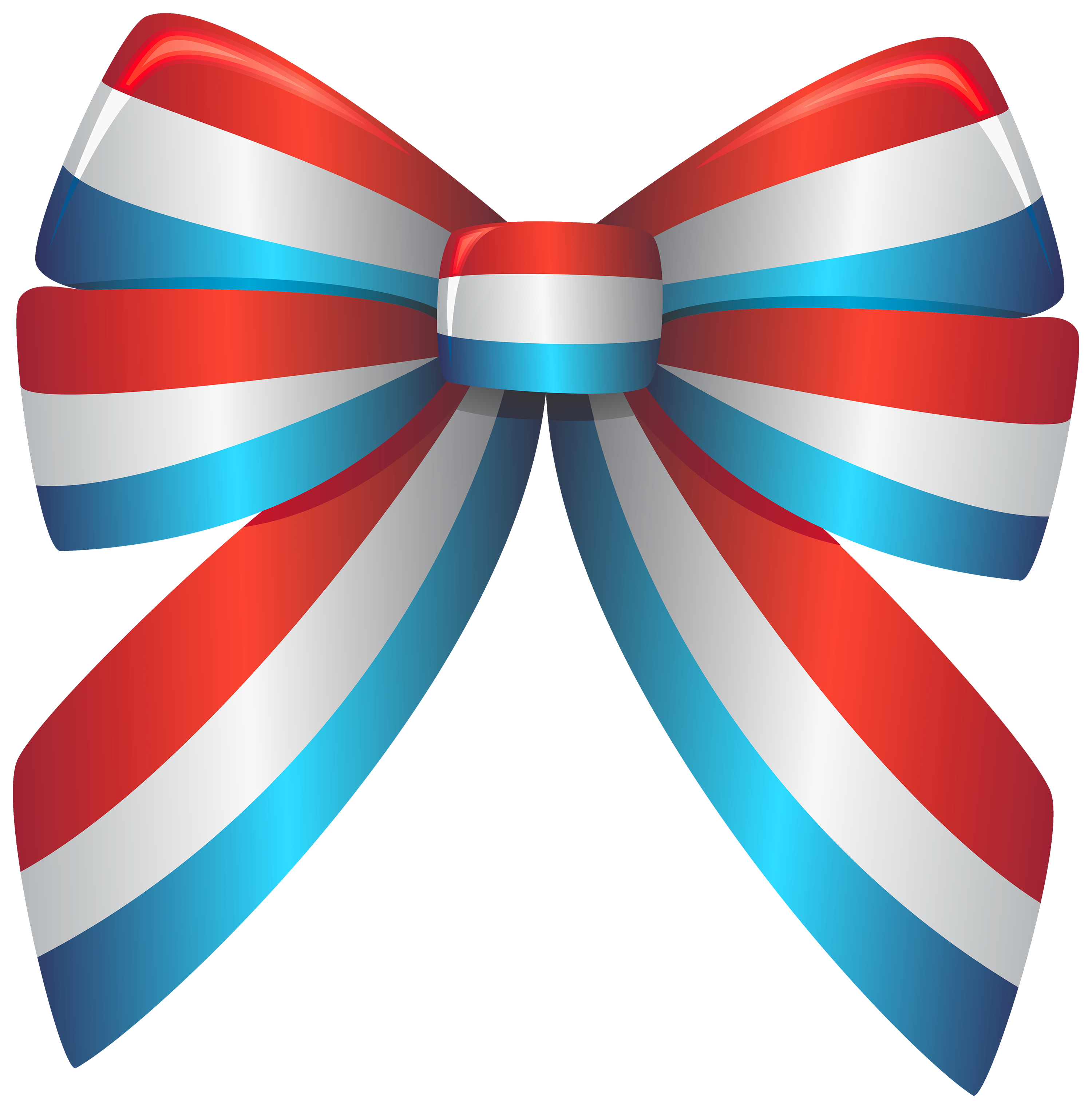 3000x3046 Red White And Blue Ribbon Png Clipart