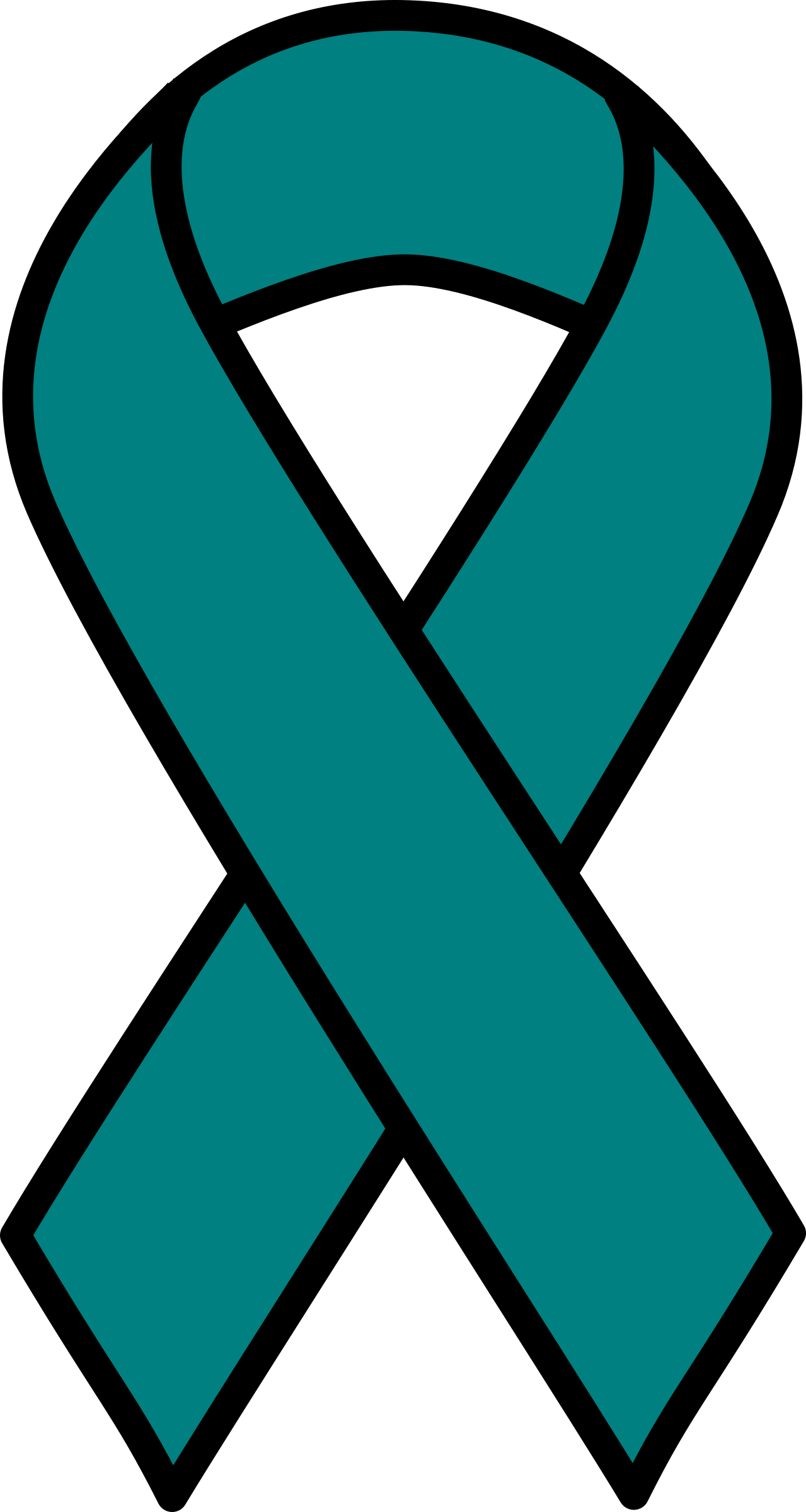 1279x2400 Teal Cancer Ribbon Clipart