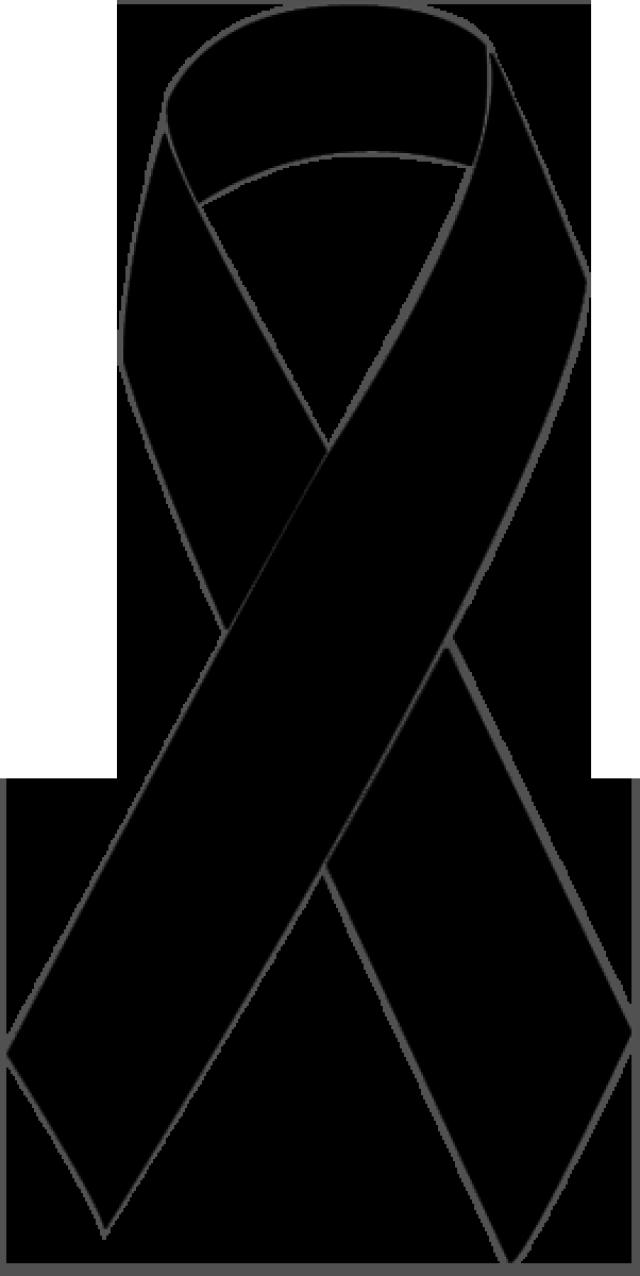 640x1276 Black Ribbon Clipart