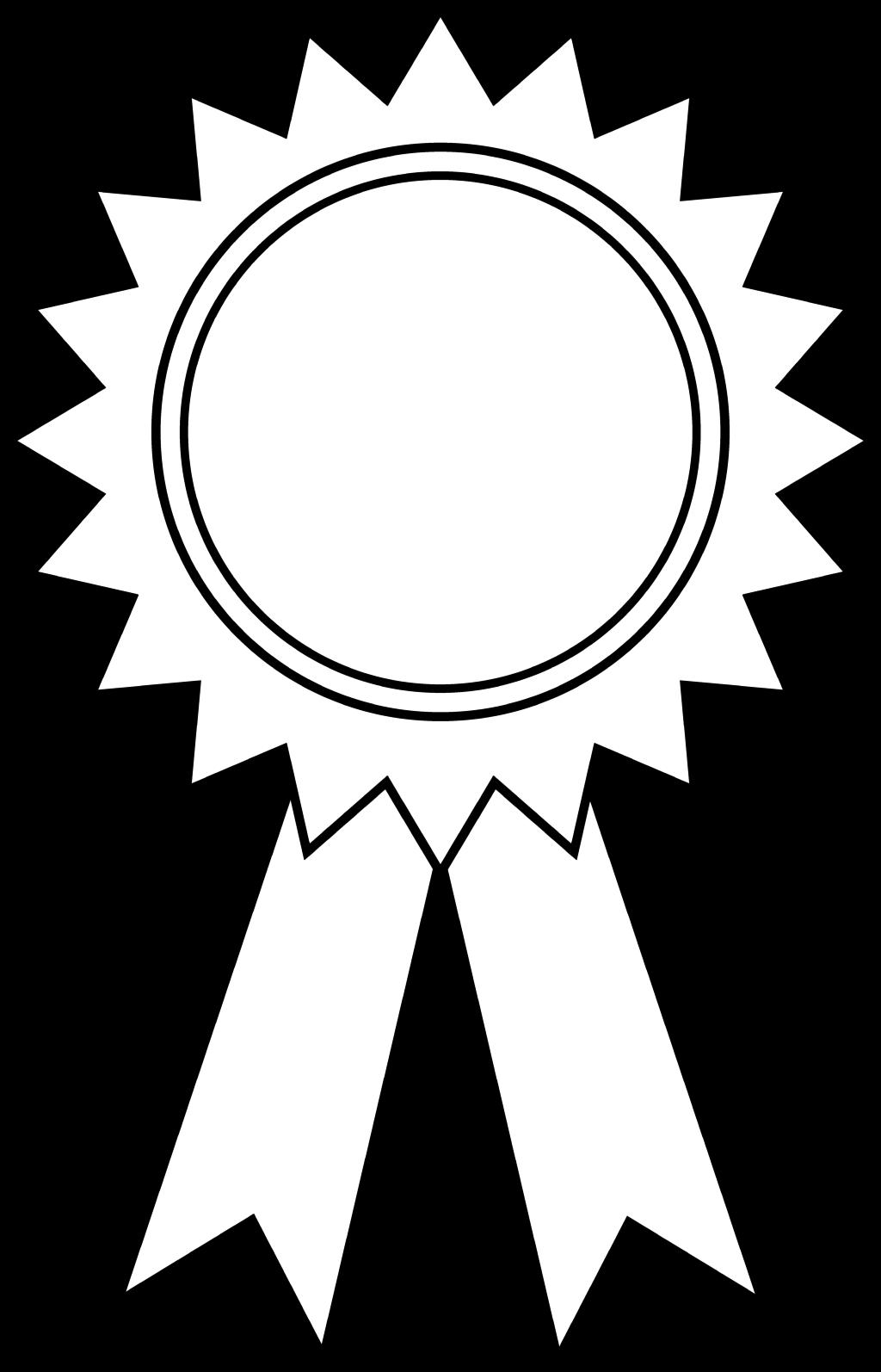 1024x1594 Ribbon Coloring Clipart Clipart Kid Coloring Page Prize Ribbon