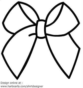 335x355 Ribbon Clipart Outline