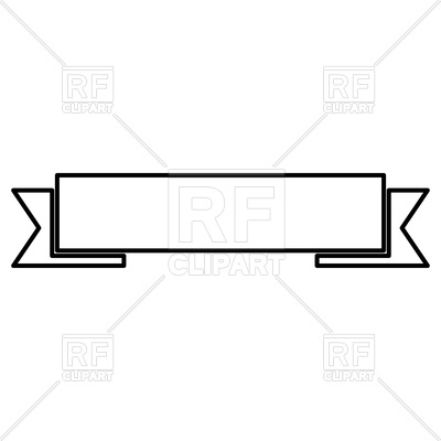 400x400 Ribbon Outline Icon Royalty Free Vector Clip Art Image