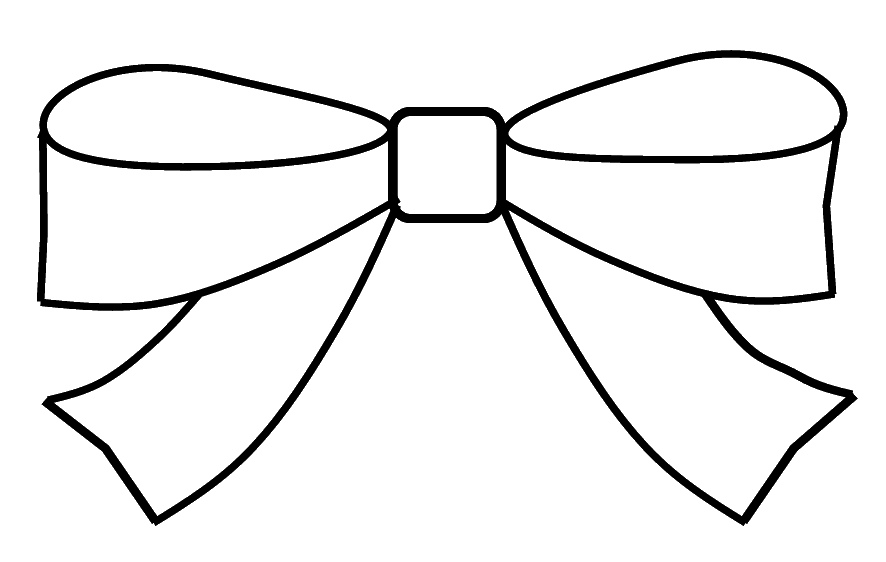 886x562 Bow Clipart Outline To Colour, 15cm Wide This Clipart