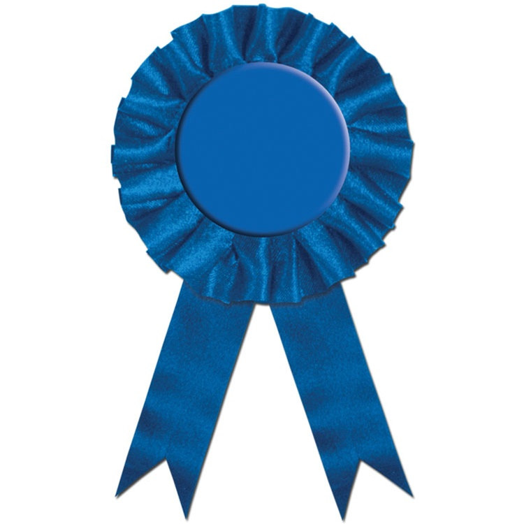 750x750 Blue Rosette Award Ribbon