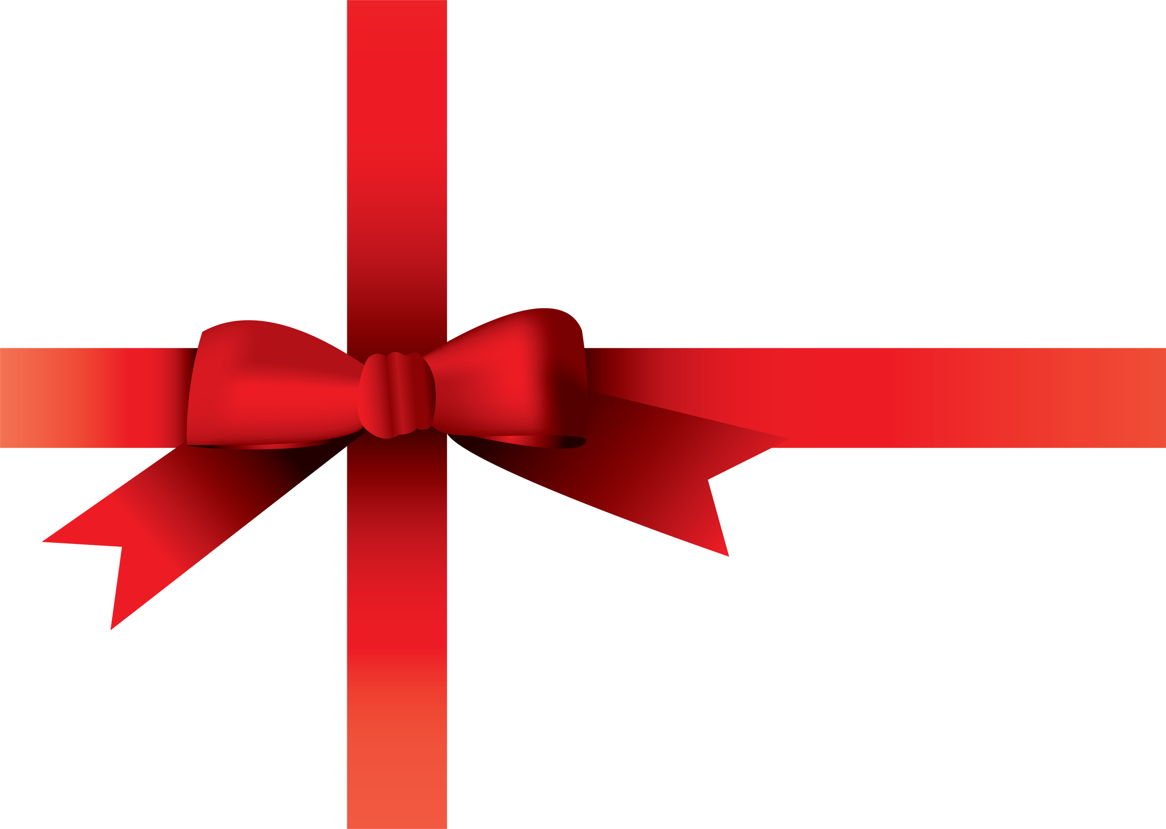 2400x1707 Christmas Red Ribbon Clipart