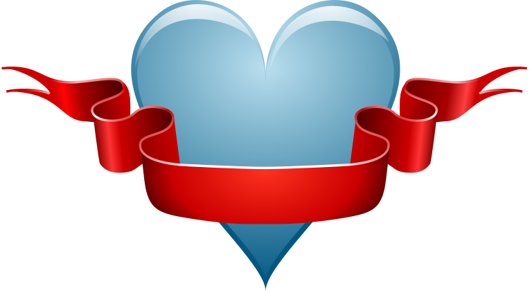 768x420 Free Heart And Ribbon Clipart, 1 Page Of Public Domain Clip Art