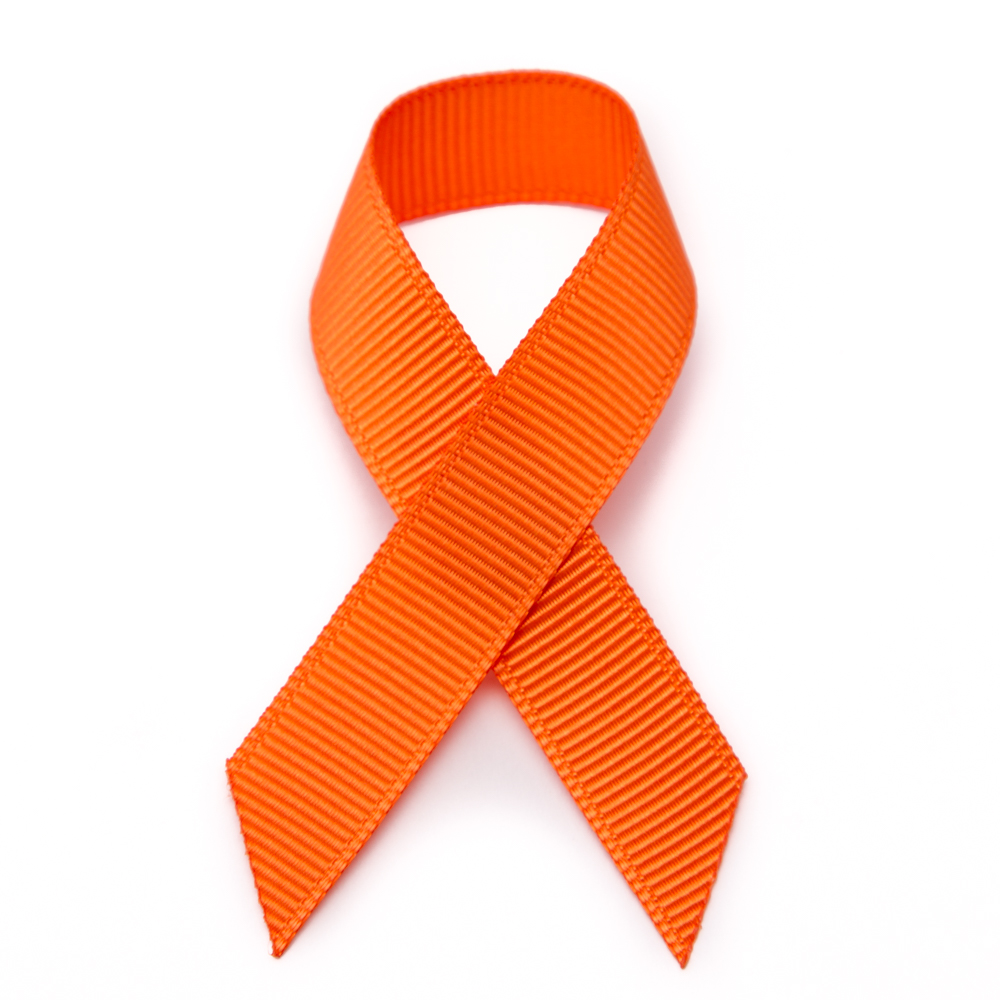 1000x1000 Grosgrain Stick On Orange Awareness Ribbons Pre Made
