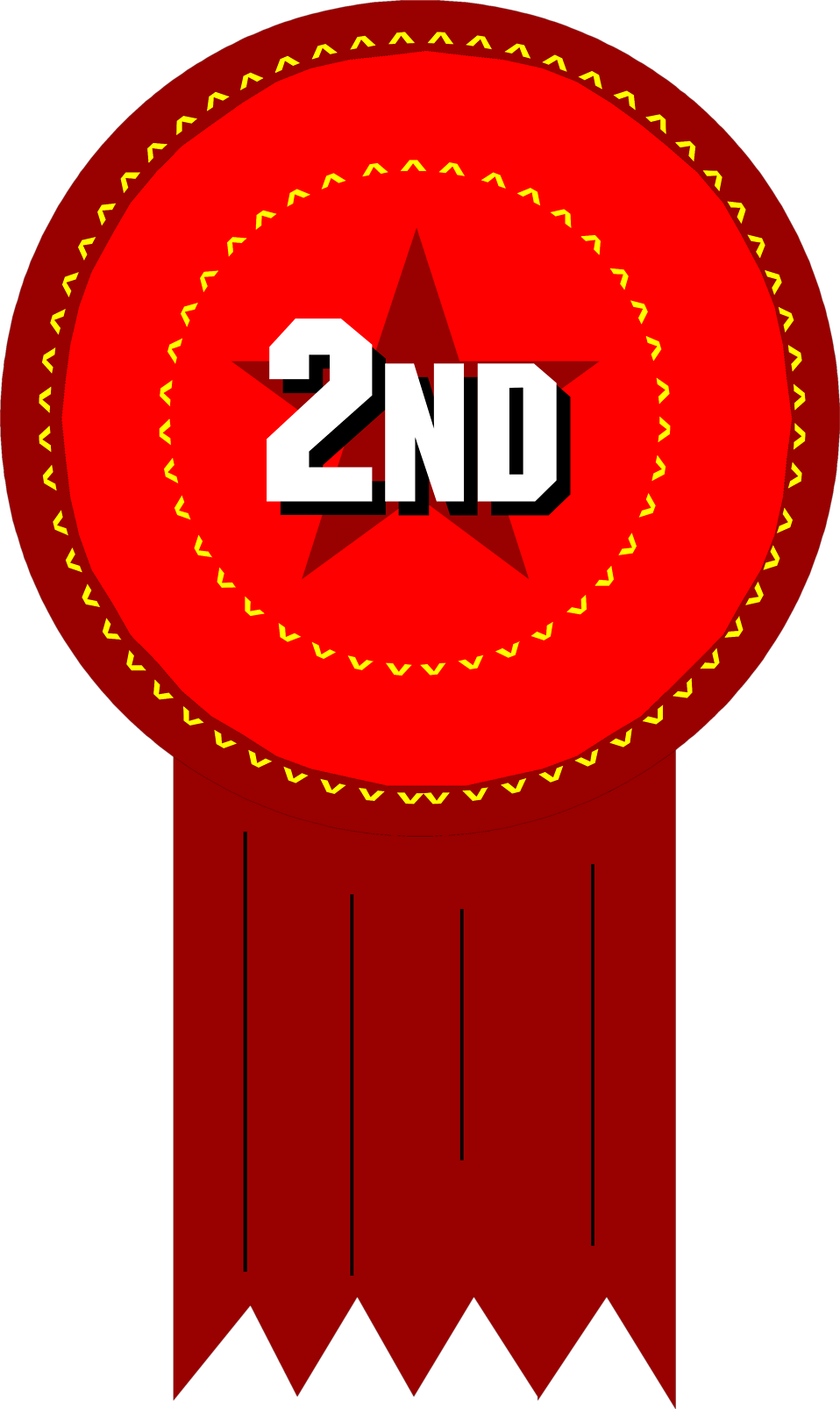 958x1606 Award Free Stock Photo Illustration Of A 2nd Place Ribbon