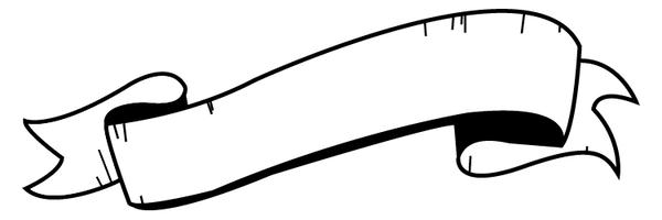 600x200 Scroll Banner Clipart