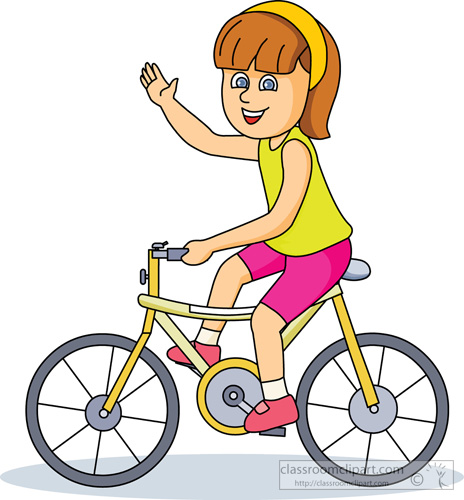 464x500 Cliparts Children Riding In Bicycle
