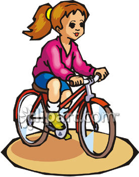 275x350 Young Girl Riding A Bicycle
