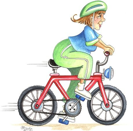 Riding Bicycle Clipart
