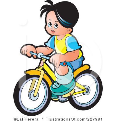 400x420 Boy Riding Bikes Clipart