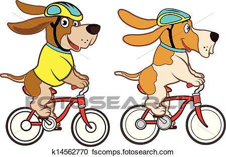 450x312 Clipart Of Dog Riding Bike K14562770