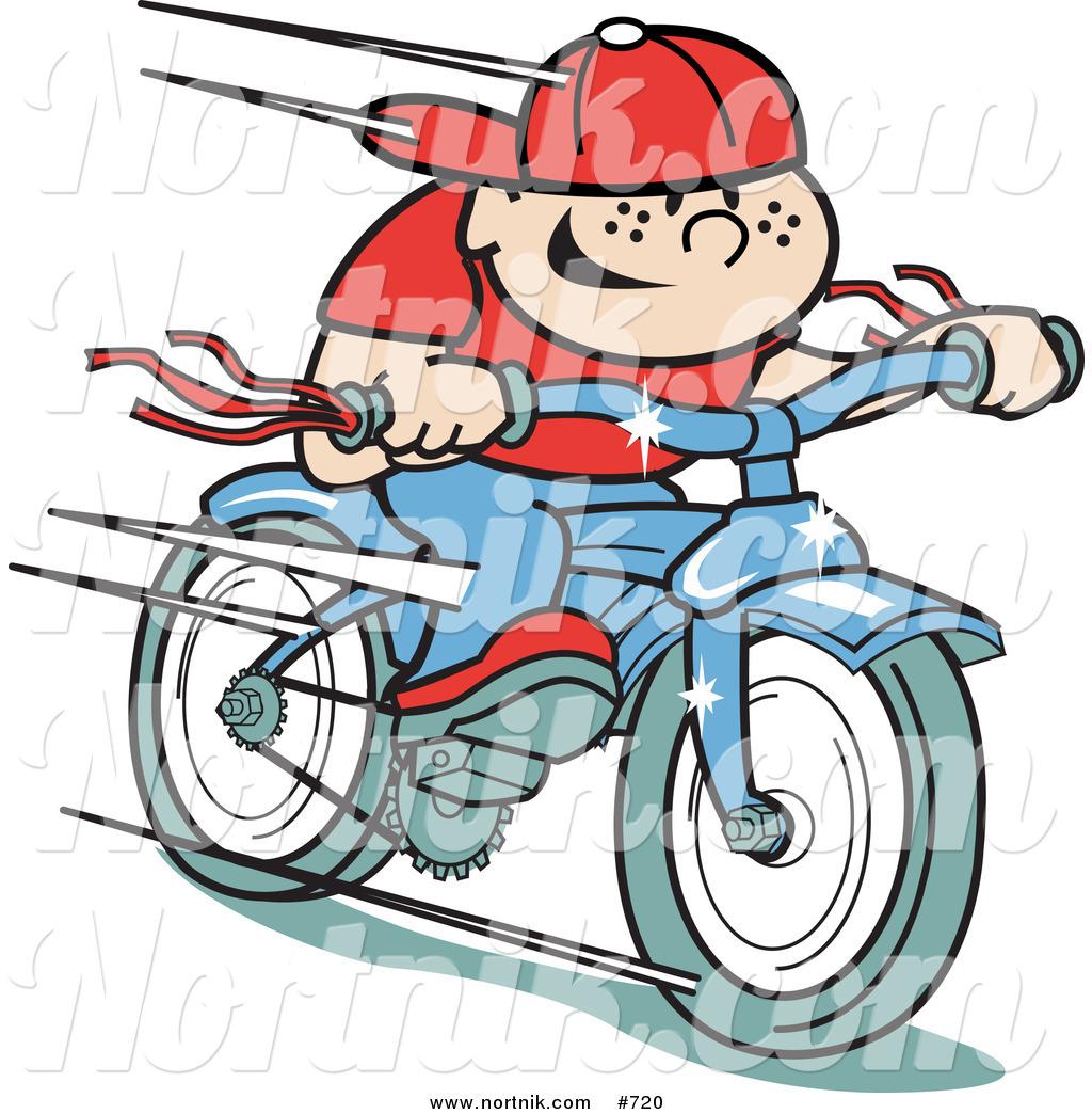 1024x1044 Clipart Of Retro Boy Riding Bike By Andy Nortnik