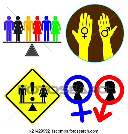 450x470 Clipart Of Equal Rights K21429992