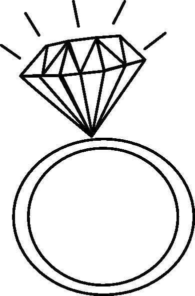 390x591 Diamond Ring Outline Clip Art