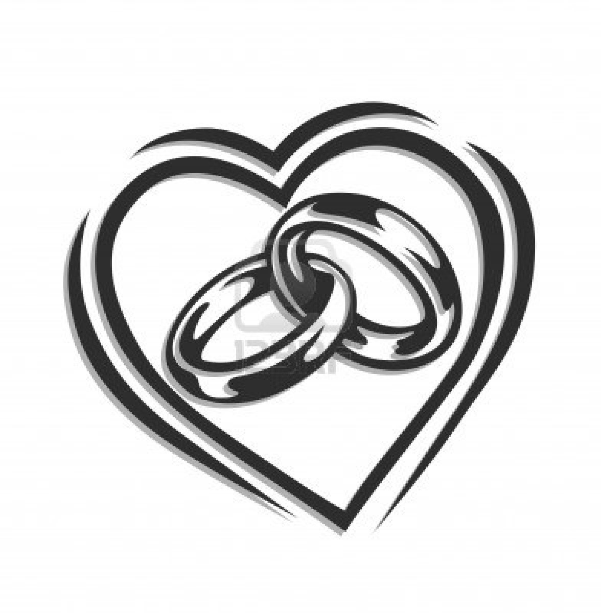 1176x1200 And White Wedding Rings Clipart