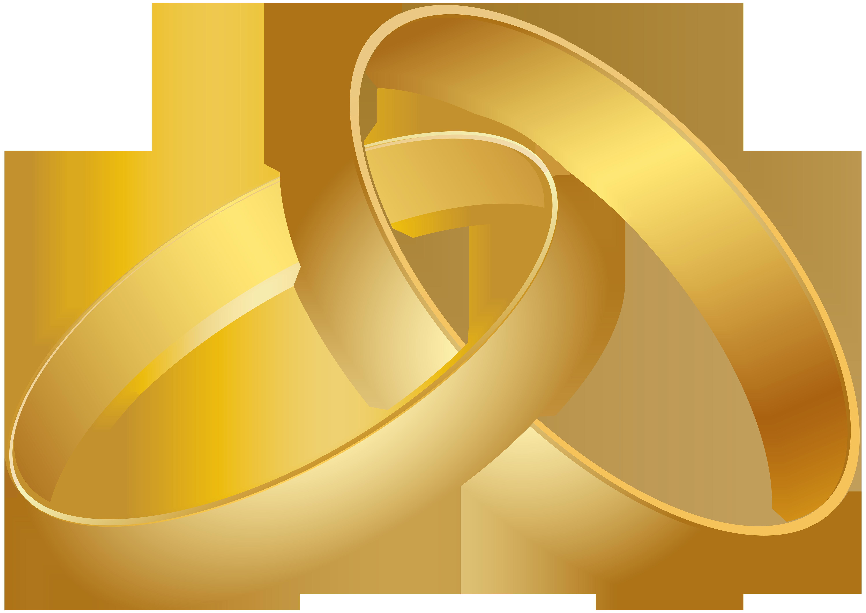 6000x4248 Wedding Rings Gold PNG Clip Art