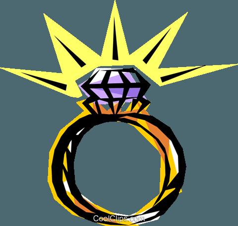 480x455 Diamond Ring Royalty Free Vector Clip Art Illustration Even0012